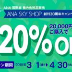 ANA国際線機内免税品販売キャンペーン